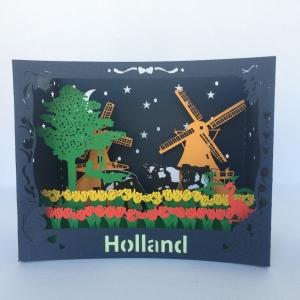 Holland tulpen 3D kaart